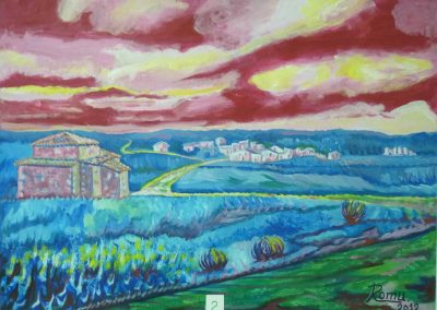 paisaje parra de las vegas pintura fauvista